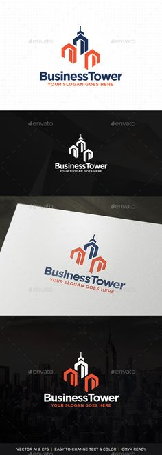 Plaza Tower Logo — Vector EPS #workspace #building • Available here → https://graphicriver.net/item/plaza-tower-logo/11329035?ref=pxcr