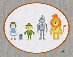 Cross Stitch Pattern Wizard of Oz Instant Download by TinyNeedle, $5.00