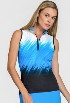 47778b925a99c7 Tail Ladies Fannie Sleeveless Golf Tops - PACIFIC VIEW (Cool Waters)