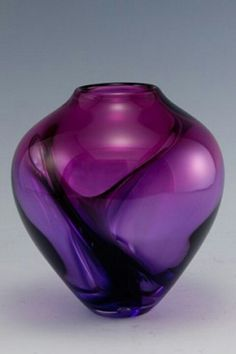 Purple art glass