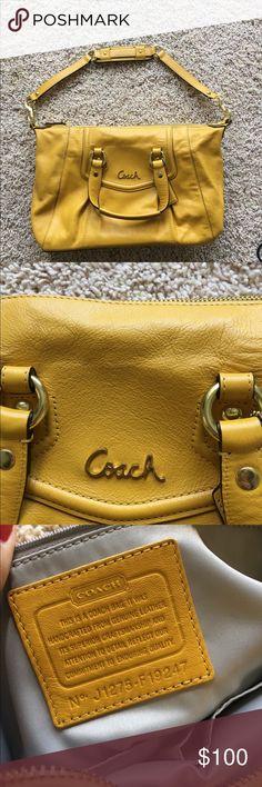 Coach genuine leather coach purse gold Coach genuine leather coach purse gold never used Coach Bags Satchels