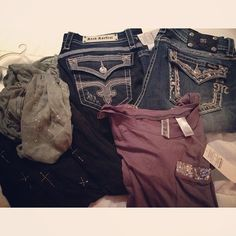Scarf Top and Jeans