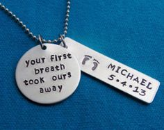 Hand Stamped Mothers Necklace - Personalized Jewelry - Hand Stamped Jewelry - Personalized Mommy Necklace
