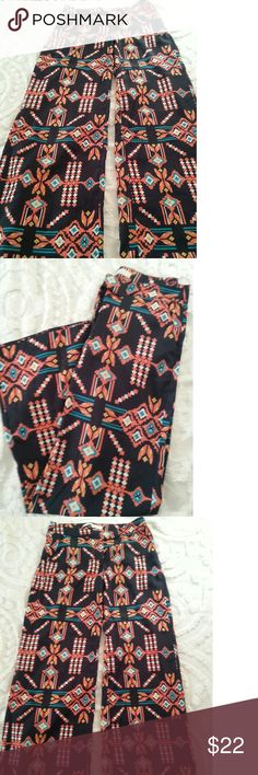 Trendy Southwest Wide Leg Flowy Pant Super cute and perfect for Spring and Summer.  Excellent condition. Chord Pants Wide Leg