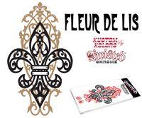 Fleur De Lis Window Decal   FLEUR DE LIS STICKER FOR WINDOW OR ACCESSORY