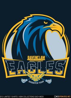 The Eagles by Mitch Ludwig is available this week only as a T-Shirt, Hoodie, Phone Case, and more! Available until 6/29 at OnceUponaTee.net starting at $12! #HarryPotter #Ravenclaw #Hogwarts