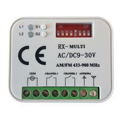 2 Kanal Universal-Funkempfänger mini  Folgende Handsender Marken/Modelle können in den TORIX Multi-R 433-900 eingelernt werden (nicht untereinander mischbar):  Allmatic BROWN Hörmann 868 (nicht BiSecur, blaue LED!!)...