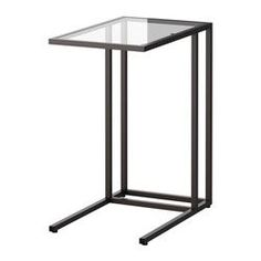 Dont want place to be all modern, but this would be a cool style juctoposition with earthier pieces that I love VITTSJÖ Laptop stand - IKEA