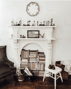 Jul 2019 - Faux mantle with corbels. These corbels are our mini Griffin Corbels that come as a set. This is Mary's faux mantle that her husband built. Decor, Faux Fireplace Mantels, Dining Room Chairs, Living Room Decor, Mantle Decor, Home Decor, Farmhouse Style Kitchen, Interior Design Living Room, Kid Room Decor