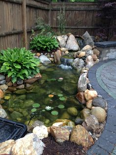 Create the Ultimate Outdoor Living Space Water Feature by Bahler Brothers in CT - DIY Garten Landschaftsbau Backyard Water Feature, Ponds Backyard, Garden Ponds, Backyard Waterfalls, Garden Pond Design, Landscape Design, Diy Pond, Pond Water Features, Pond Waterfall