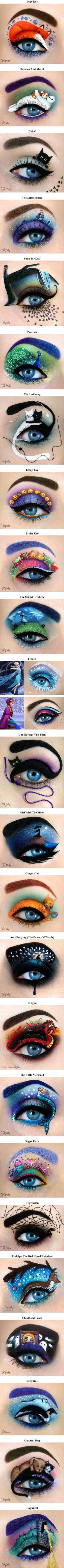 Eye Makeup Tips and Advice Eyes occupy the most prominent place among the five sensory organs of our body. Large and beautiful eyes enhance one's beauty manifold. Use eye-make up v Eye Makeup Art, Eye Art, Beauty Makeup, Beauty Tips, Beauty Hacks, Hair Beauty, Crazy Makeup, Cute Makeup, Maquillage Halloween