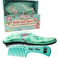 Detangling Hair Brush and Comb Set, the Best Detangler Brush for Wet or Dry Hair, no more tangles, no more tears by Bella and Bear * Continue to the product at the image link. (This is an affiliate link) Best Detangler, Best Detangling Brush, Hair No More, Hair Brush Set, Paddle Brush, Stop Hair Loss, Shiny Hair, Dry Hair, Styling Tools