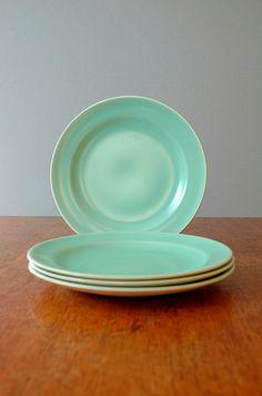 Vintage Poole Twintone Pottery Plates