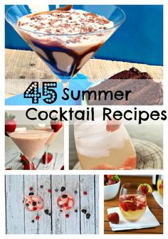 Round Up of 45 #Cocktail #Recipes