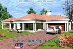 House Roof Design, Bungalow House Design, Small House Design, Patio Design, 4 Bedroom House Designs, 4 Bedroom House Plans, Family House Plans, House Plans Mansion, House Floor Plans