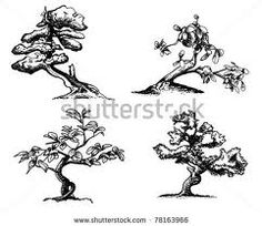 bonsai silhouette - Google Search