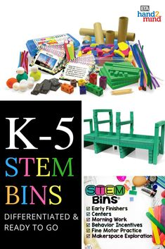 Whether Kindergarten, first grade, 2nd grade, or upper elementary, kids will love learning with these STEM bins. Not only do they come with hands on materials and supplies, but they include storage containers and ready to go labels for easy organization. With picture and written task cards, there are endless ideas for morning work, science experiments, fun challenges, and group activities. Engage your students in meaningful work with these amazing classroom STEM bins!