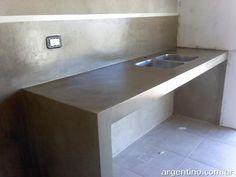 Diy Concrete Counter, Concrete Bathtub, Concrete Kitchen, Concrete Countertops, Garden Lighting Diy, Bamboo House Design, Bathtub Decor, Industrial Kitchen Design, Laundry Room Design
