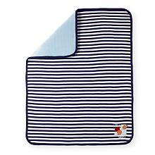 Koala Baby Interlock Stripe Blanket - Navy Sports