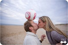Soccer playing engagement session by MKD Photography, via Flickr