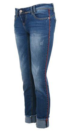 Bokové džíny s červeným pruhem Rock Angel  denim  angel Angles 471e30cac7