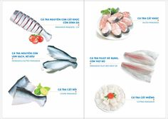 Pangasius whole, Steak, Untrimmed, portions.