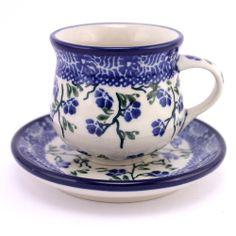 Adorable espresso cup! Polish pottery, http://slavicapottery.com