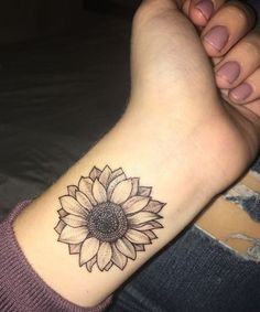 Sunflower Tattoo Ideas on Wrist Looks Stunning for Girls