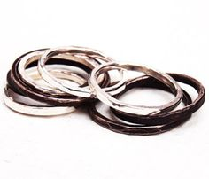 Stacked Rings by Kerrie Yeung Uncovet