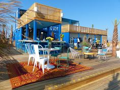 The Gulf Restaurant at Alabama Point in Orange Beach is a unique outdoor restaurant located right on Alabama Point constucted out of 4 shipping containers. Container Shop, Container House Design, Outdoor Restaurant Patio, Orange Beach Alabama, Bar A Vin, Beach Stores, Pub Design, Beach Cafe, Restaurant Interior Design