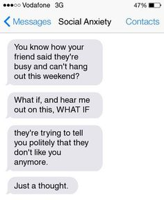 I understand this completely, unfortunately.... anxiety!!
