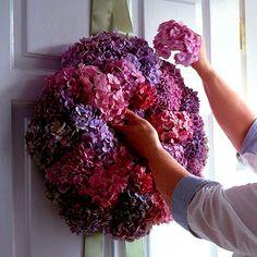 Purple Hydrangea Wreath