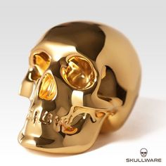 Gold skull from SkullWare decoration art