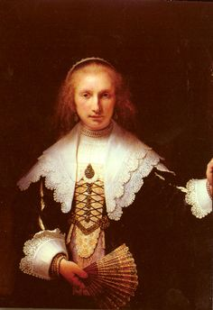 Agatha Bas by Rembrandt, Oil on canvas