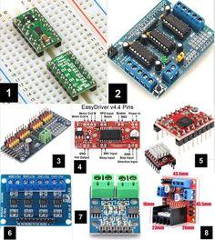 Placas de control de motores DRV8835, Dual L393D, PCA9685, A3967, A4988, HG7881, L9110S, L298N Power Motors, Wall E, Milling, Electronics Projects, Lathe, Control, 3d Printer, Robot, Solar
