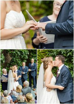 During their College of Physicians Wedding Ceremony, Jessica and Andy exchanged rings and sealed their vows with a joyful kiss.