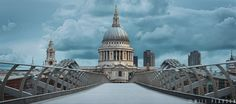 St Paul's Cathedral and the Millennium Bridge | Will Pearson Photography Library