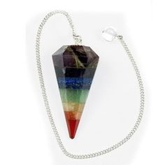 Multilayered Chakra Pendulum dowsing Reiki beads by EthericVisions, $25.00