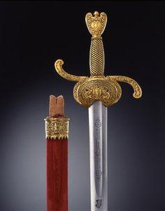 Sword belt with scabbard    Sore Younger, John (bladesmith)  Germany. Before 1613.  Wundes d. J., Johannes (Klingenschmied)Deutschland. Vor 1613.