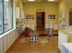 I would like my grooming room to incorporate lots of natural light for a healthy work environment and to keep pets calm.
