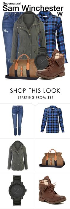 """""""Supernatural"""" by wearwhatyouwatch ❤ liked on Polyvore featuring Topshop, Equipment, River Island, LEFF Amsterdam, Rock & Candy, television and wearwhatyouwatch"""