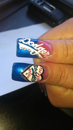 Dodgers nail art