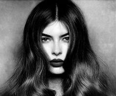 dark features & a bold lip