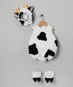 Cow Outfit - Infant & Toddler Halloween costume? Brandon and I were both cows for our first Halloween :)