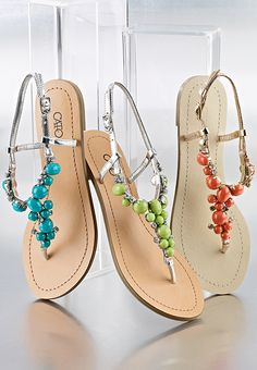Beaded sandals – meet your new spring flings.