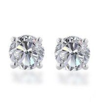 10k Gold Round Diamond Stud Earrings (1/3 cttw, J-K Color, I2-I3 Clarity)