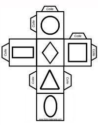 Dé à jouer figures géométriques