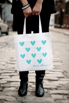 White Heart Bag by The Love Alliance