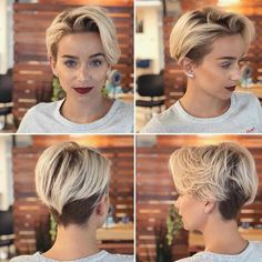 35 Gorgeous Short Pixie Cut Hairstyles Are women's pixie cuts in for You bet! The short pixie hairstyle is still hot and getting one is Undercut Hairstyles Women, Cute Hairstyles For Short Hair, Pixie Hairstyles, Curly Hair Styles, Beautiful Hairstyles, Short Hair With Undercut, Pixie Undercut Hair, Pixie Haircuts, Grown Out Undercut