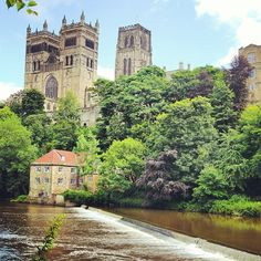 Buy Durham Cathedral by zambezi on PhotoDune. Durham Cathedral and the Old Fulling Mill overlooking the River Wear, County Durham, England. The cathedral and nearb. Middle Ages History, Durham Cathedral, Medieval, England, Stock Photos, Mansions, House Styles, Places, Image